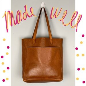 Madewell Brown Leather Medium Transport Tote